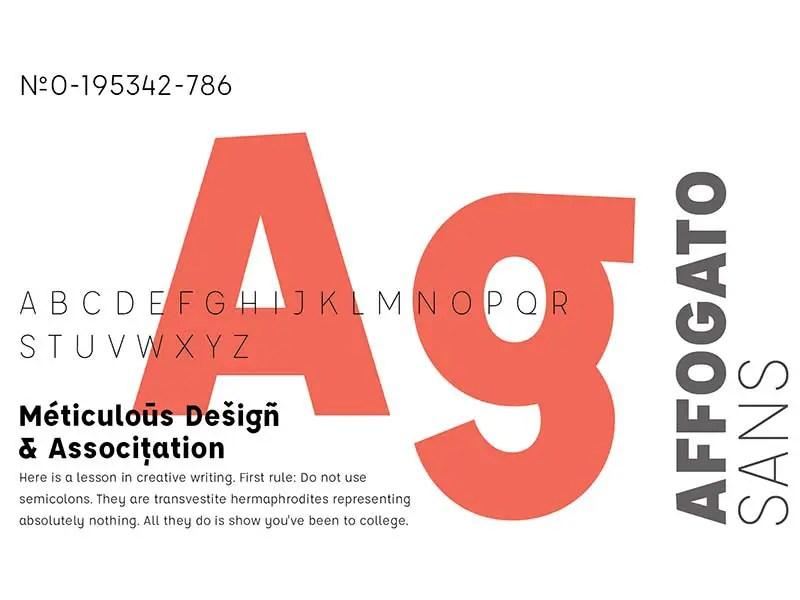 Free Affogato Font by Eric Lobdell