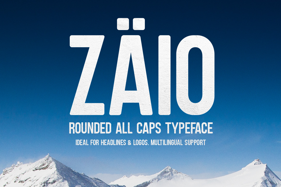 Zaio rounded All caps typeface