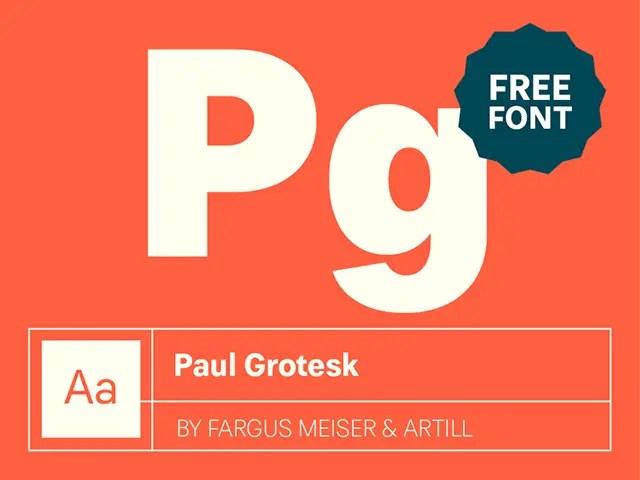 Paul Grotesk font