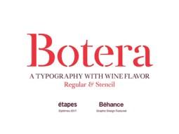 botera-free-font