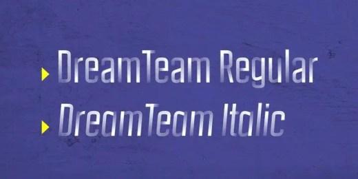 DreamTeam Font Family