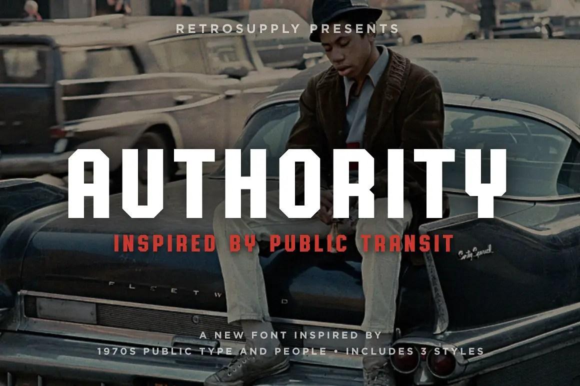Authority 1970s Public Font