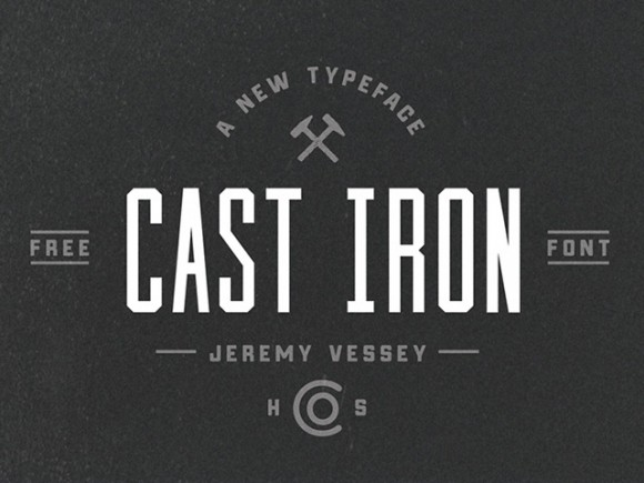 Cast Iron Free Font