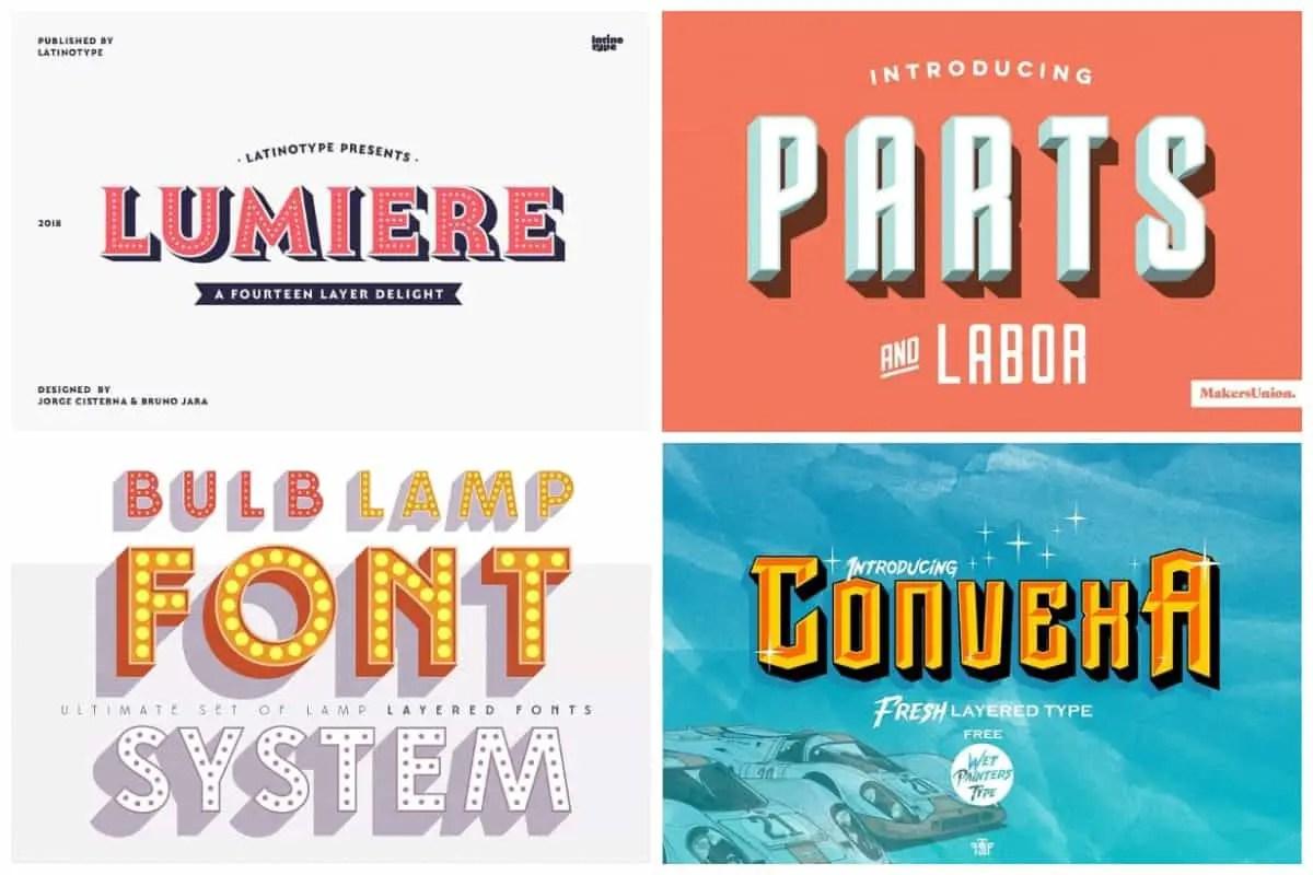 colorful 3d fonts | | HipFonts