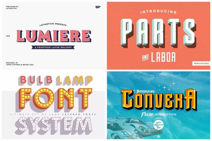 20 Incredible 3D Fonts To Bring Your Designs To Life | HipFonts