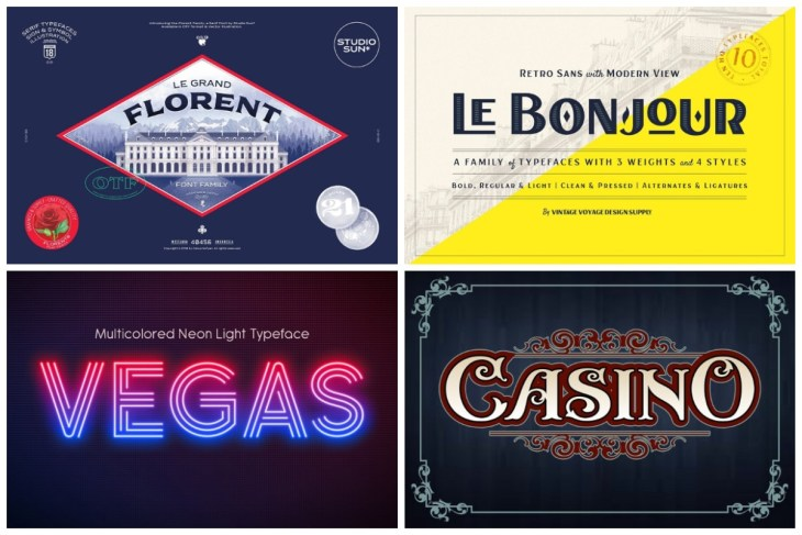 Modern Casino Fonts