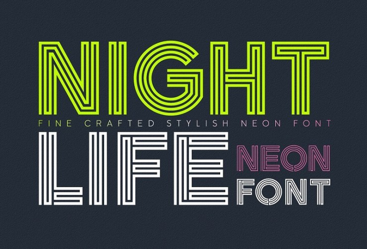 20 Timeless Neon Fonts To Electrify Your Designs | HipFonts