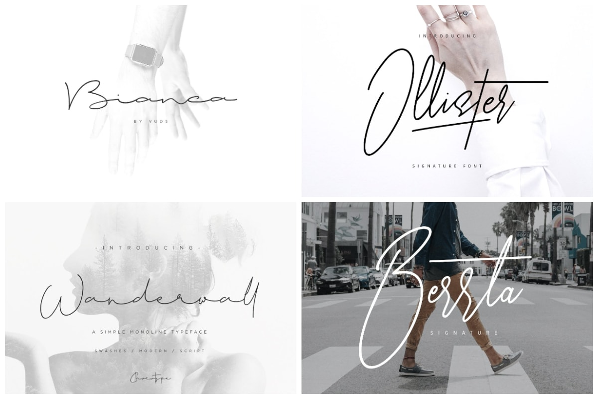 Signature Fonts
