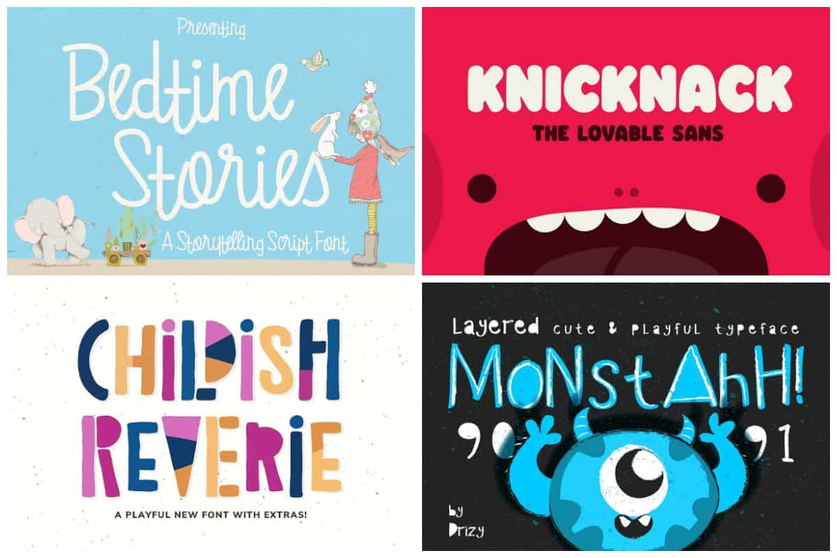 Playful Fonts for Children