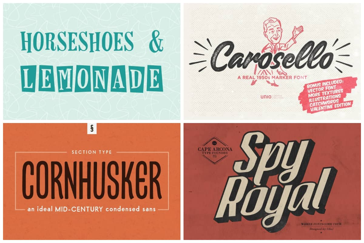 1950s-Fonts