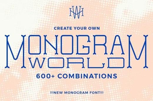 Monogram Fonts 2019