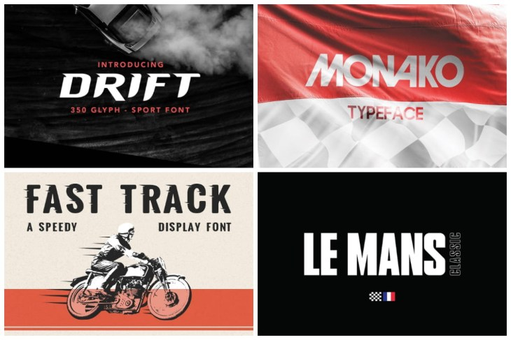 Racing Fonts