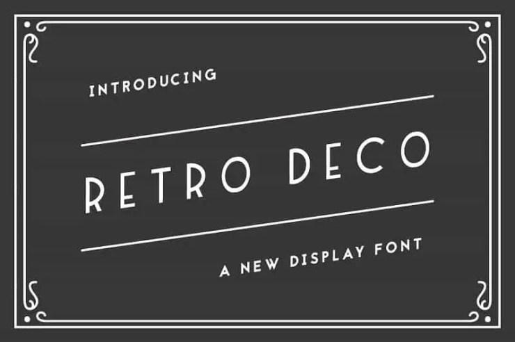 Art Deco Fonts