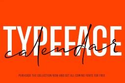 2019 Calendar Typeface