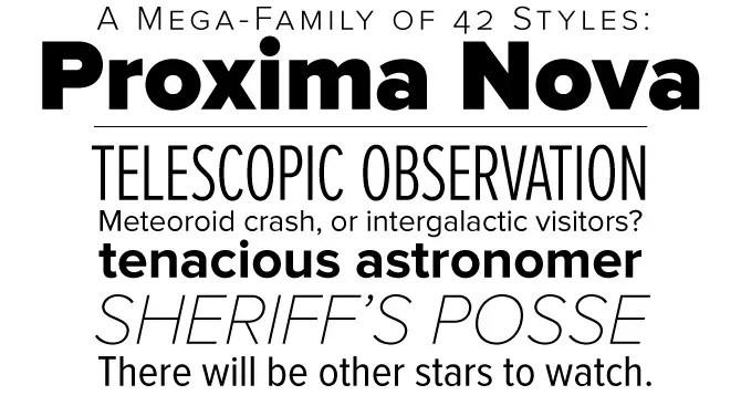 Proxima Nova family