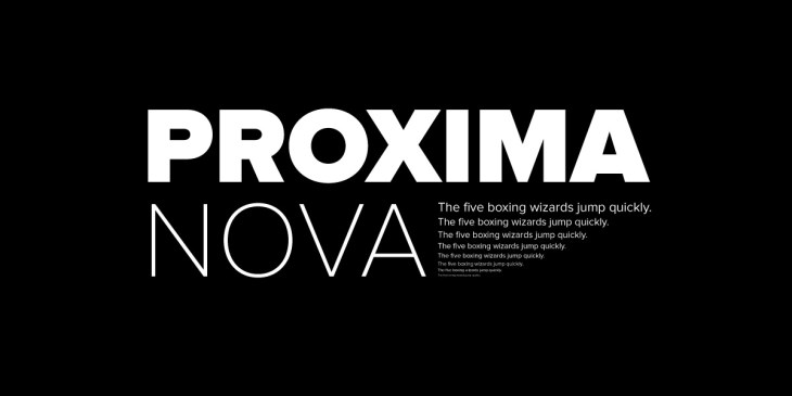 Font Family Proxima Nova Sans Serif Archives Hipfonts