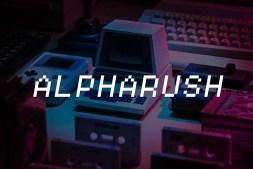 Alpharush Retro Game Font