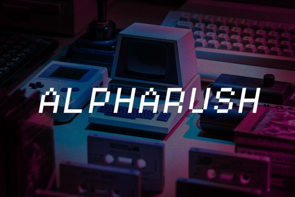 Alpharush Retro Game Font