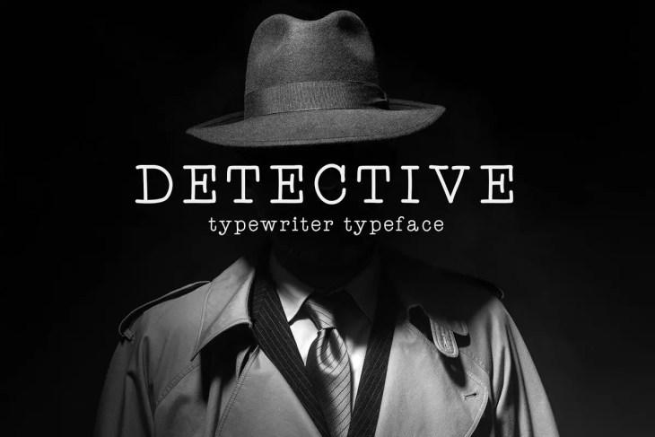 Detective Typeface 2020