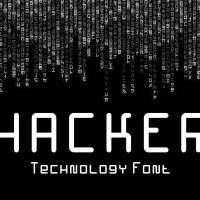 Hacker - Technology Font