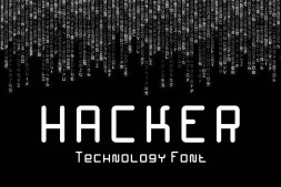 Hacker Technology Font min