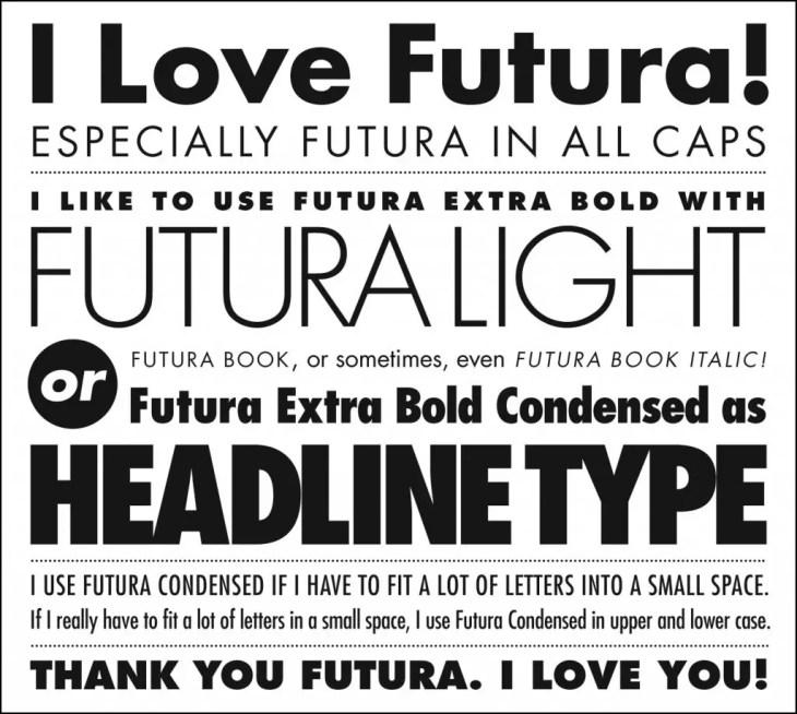Futura Typeface