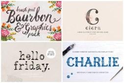 Watercolor Fonts cover min