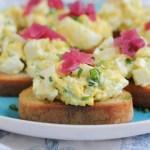 Deviled Egg Crostini for @SafeEggs #SundaySupper