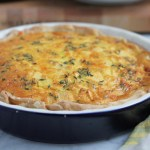 Apple and Cheddar Quiche with Olive Oil and Thyme Crust