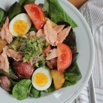 Baked Salmon Salad with Roasted Potatoes