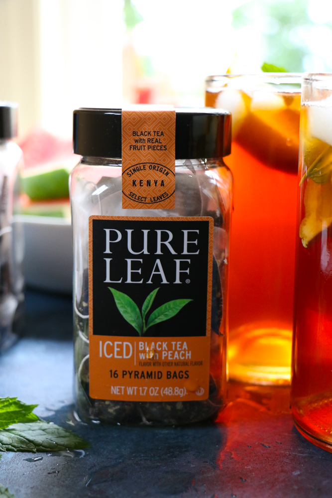 Doing Summer Right with Pure Leaf Home Brewed Iced Teas! Single-origin Kenyan black tea and real fruit pieces of peaches, mangos & apricot!