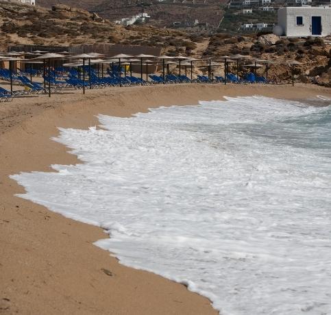 AGRARI BEACH MYKONOS GREECE