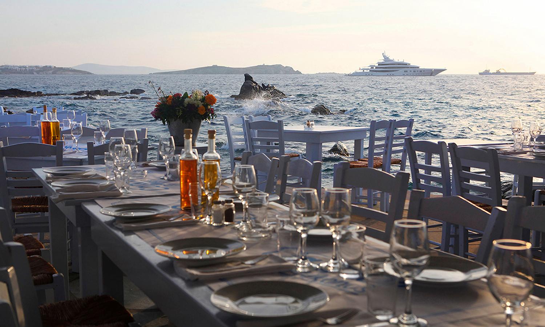 CAPRICE SEA SATIN MARKET RESTAURANT MYKONOS