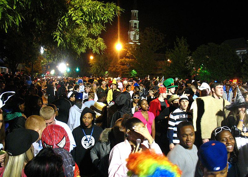 Some of over 50,000 Halloween Revelers on Franklin St.