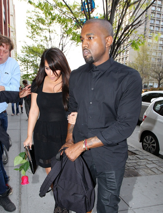 Kim Kardashian and Kanye West are seen out and about in New York City's SoHo neighborhood
