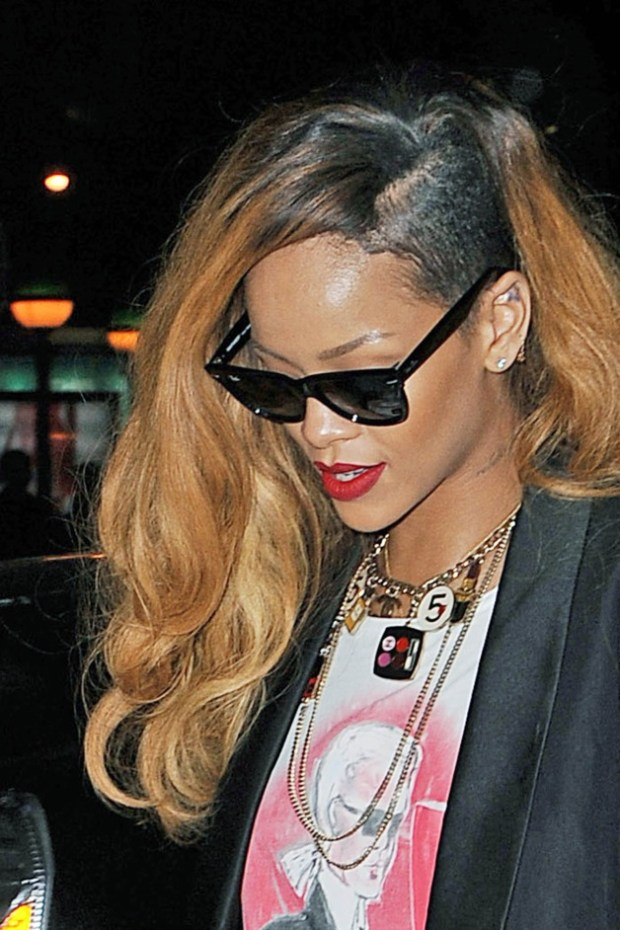Rihanna seen going on a shopping spree at the 'Atrium' store in Soho