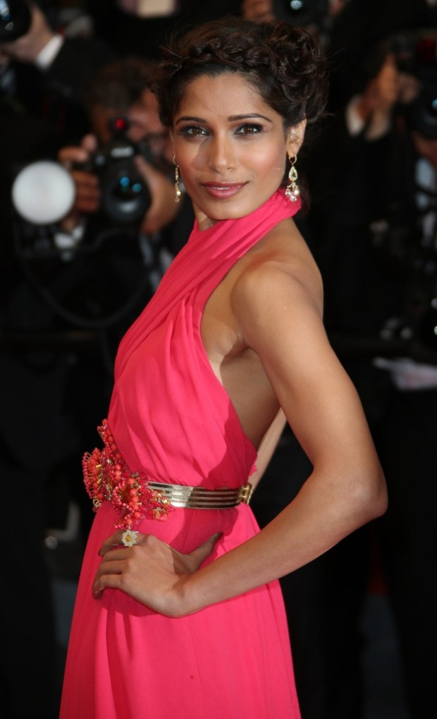 Freida Pinto attends 'The Great Gatsby' premiere for the opening night of the 66th Cannes Film Festival at the Palais des Festivals