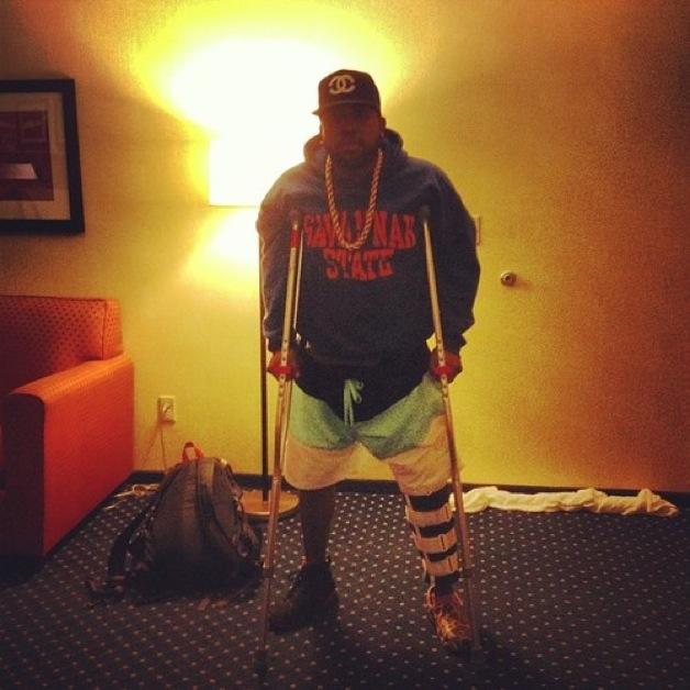 Big Boi On Crutches