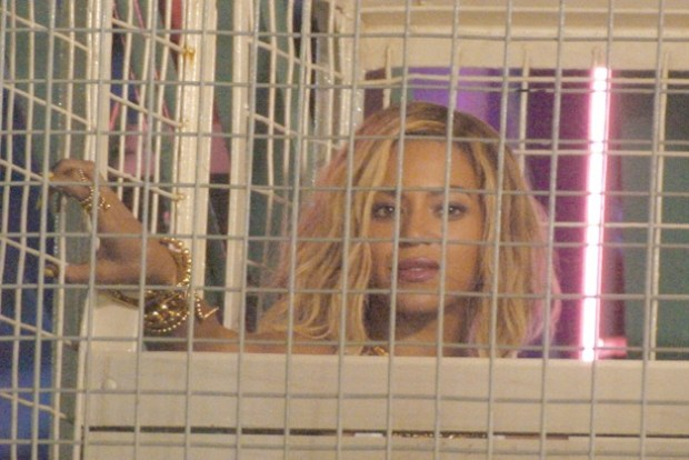 Beyonce hops on Coney Island's Wonder Wheel for a night music video shoot in New York