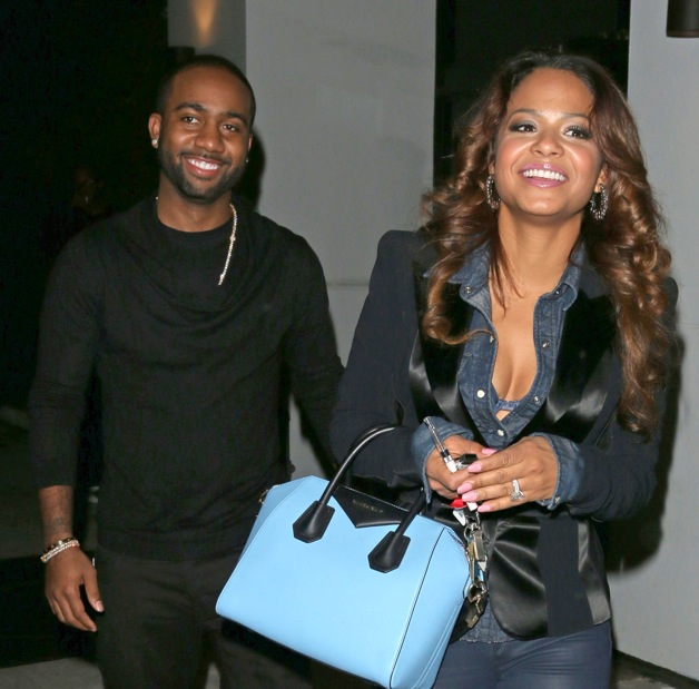 Christina Milian and her boyfriend Jazz leave after attending Lil Twist's 21st  Birthday party in Los Angeles