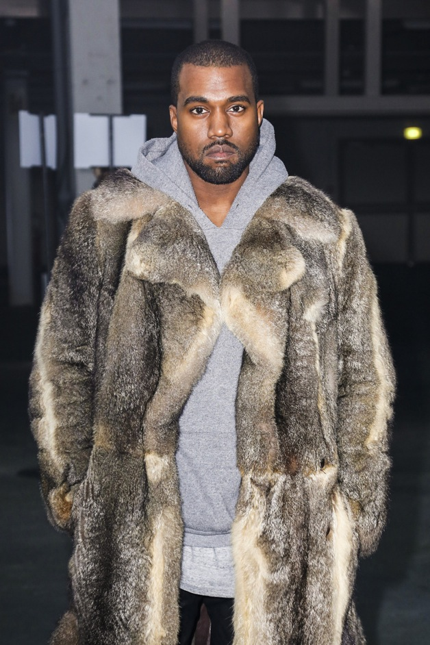 Kanye West seen at the 'Givenchy' fashion show during the Paris Fashion Week in Paris