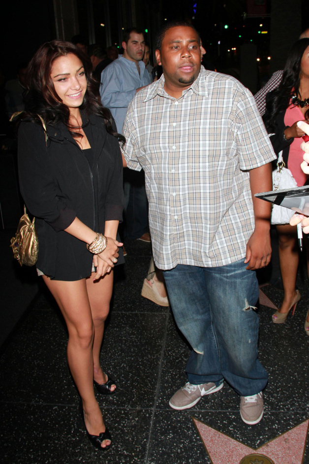 """Saturday Night Live"" star Kenan Thompson and girlfriend Christina Evangeline leave Katsuya restaurant in West Hollywood"