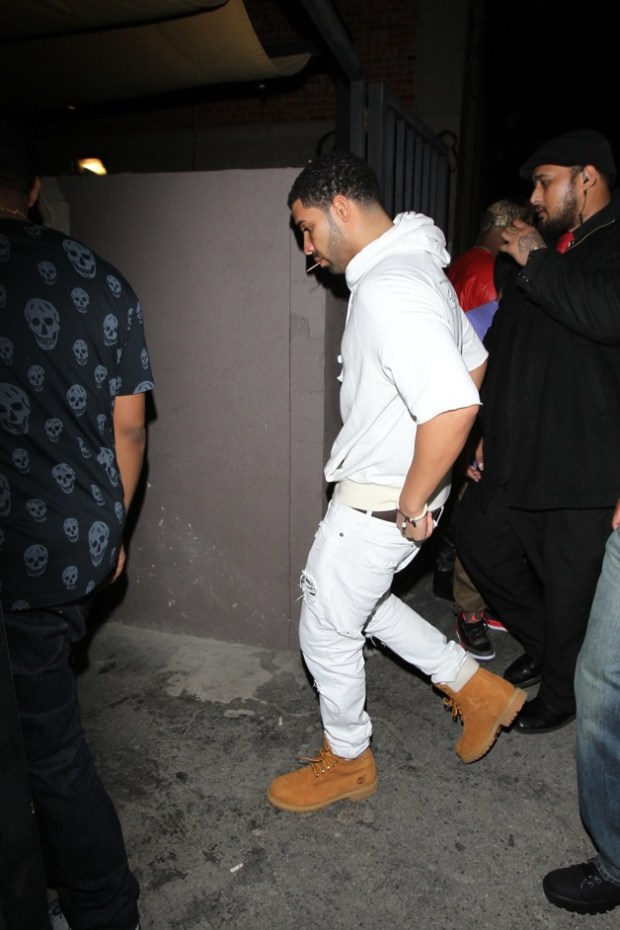 Drake arrives at the Supper Club to attend a party in Hollywood