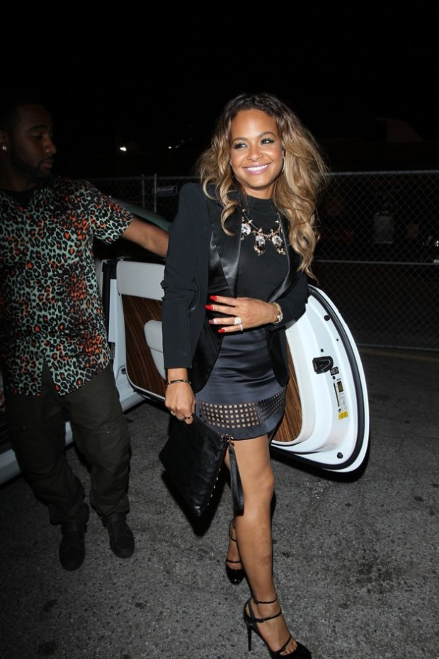 Christina Milian and boyfriend Prince arrive at the Supper Club to attend a party in Hollywood