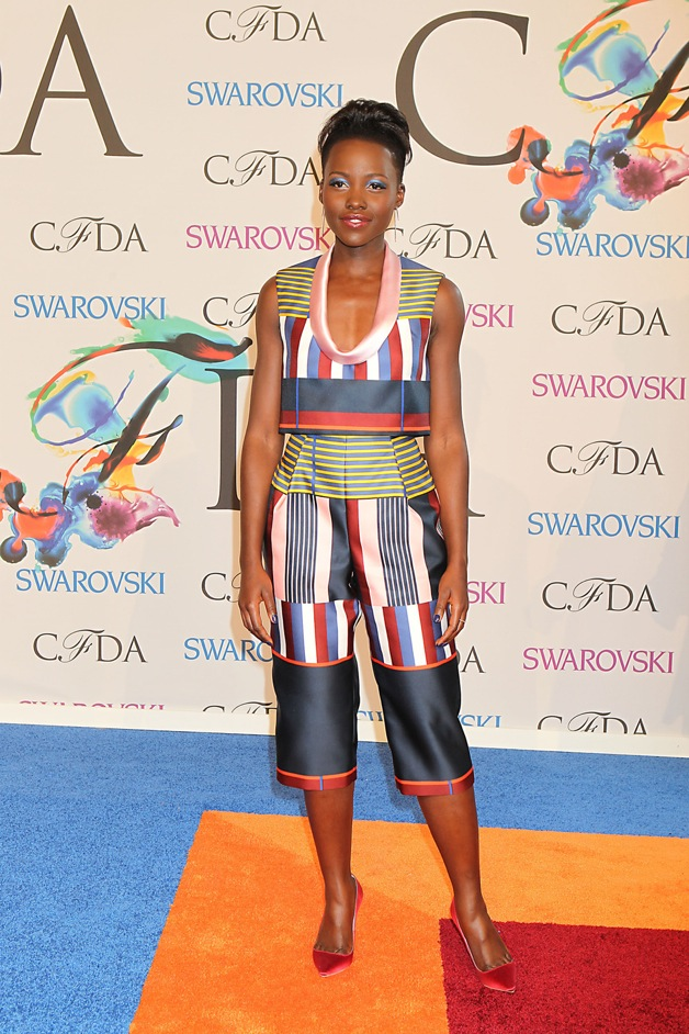 Lupita Nyong'o attends the 2014 CFDA fashion awards at Alice Tully Hall, Lincoln Center in New York