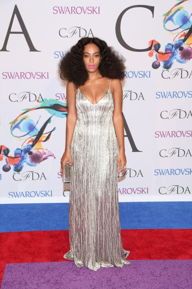 Solange Knowles attends the 2014 CFDA fashion awards at Alice Tully Hall, Lincoln Center in New York