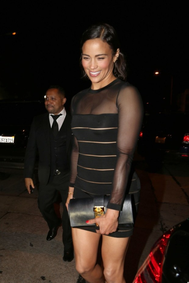 Paula Patton seen leaving Craig's Restaurant in West Hollywood