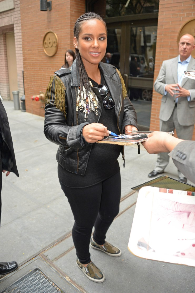 Alicia Keys meets up fans as she seen leaves 'The View' show in NYC