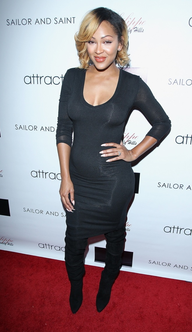 Actress Meagan Good attends Attract Magazine mixer hosted by cover girl Meagan Good at Phillipe Chow in Los Angeles