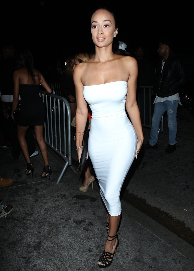 Draya Michele arrives to attend the birthday party of Lil Wayne at Lure Night club in Hollywood
